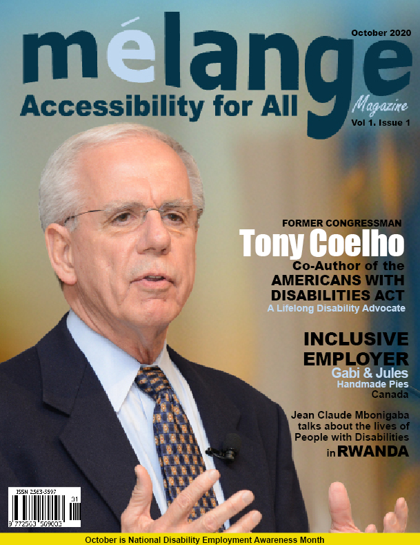 October 2020 Accessibility for All magazine cover with Tony Coelho, the co-author of the Americans with Disabilities Act as the cover story