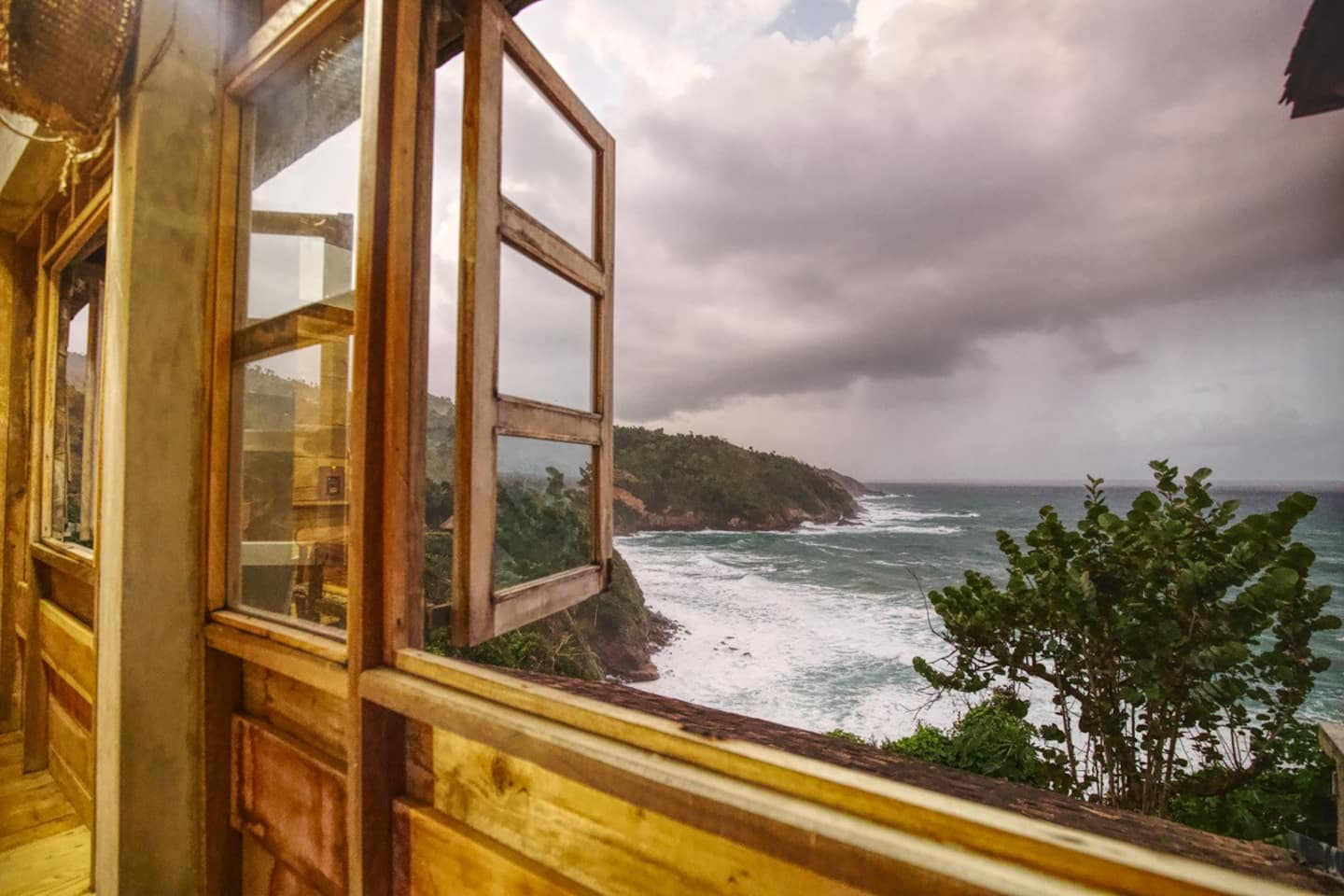 Breathtaking view of the ocean from the window of Villa Ayahora