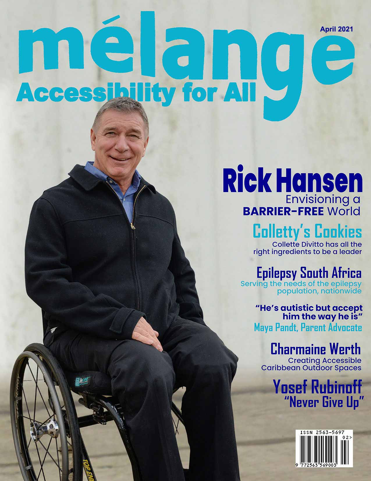 April Accessibility for all magazine cover with a photo of Rick Hansen