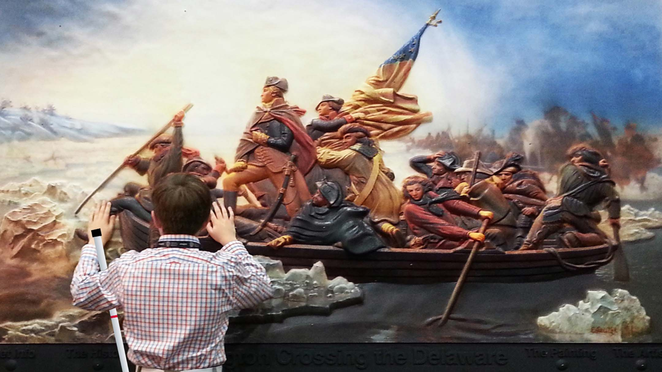 """Luc with """"George Washington Crossing the Delaware"""""""